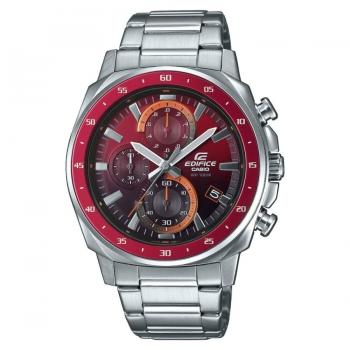 Casio Edifice EFV-600D-4AVUEF Mineralglas Herrenuhr Chronograph Rot