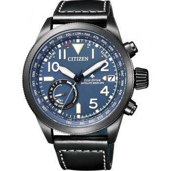 Citizen Satellite Wave GPS CC3067-11L Herren Uhr Saphirglas Eco Drive