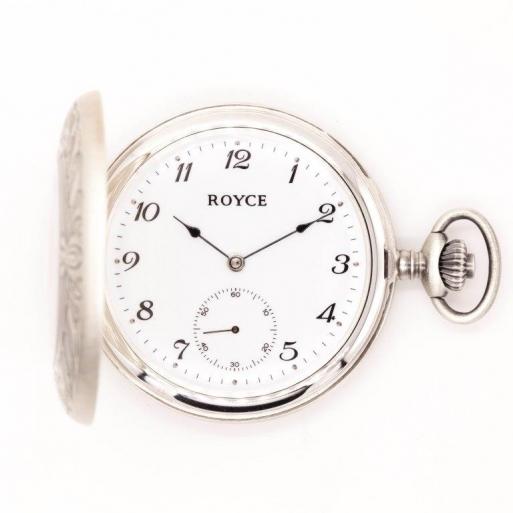 Taschenuhr Royce Mechanisch Silber 925 mit Deckel Swiss 3996011