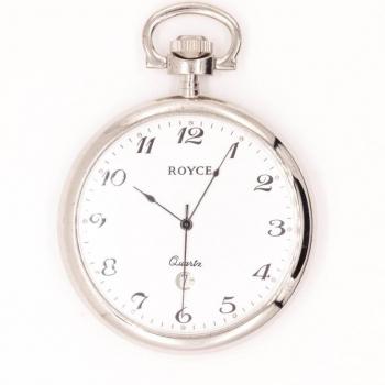 Taschenuhr Royce Quarz Altversilbert ohne Deckel 4110901