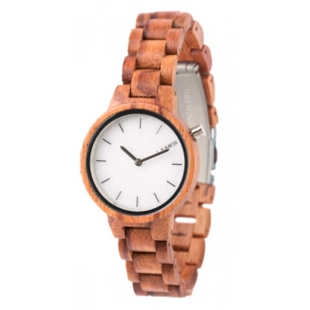 Laimer 0070 Holzuhr Woodwatch Marmo Rose Damenuhr