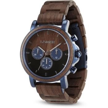 Laimer 0138 Holzuhr Ivo Herrenuhr Chronograph Woodwatch