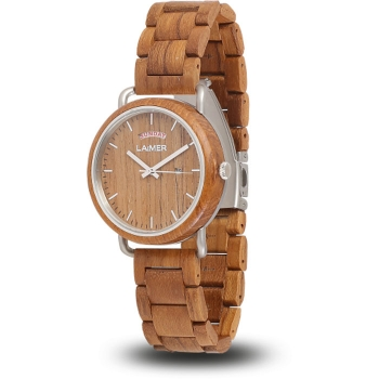 Laimer 0112 Holzuhr Finn Herrenuhr Woodwatch